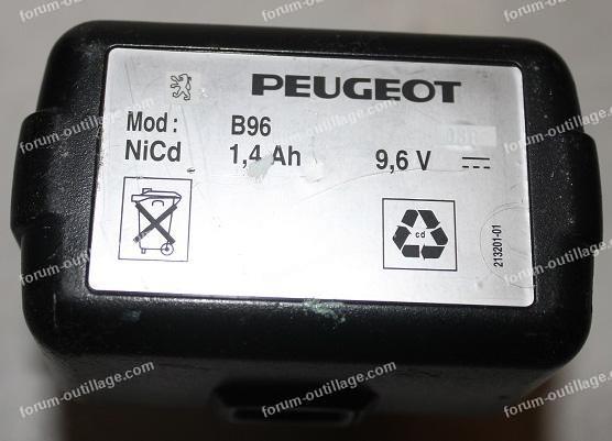 batterie B96. 9,6 Volts, NiCd 1,4 Ah