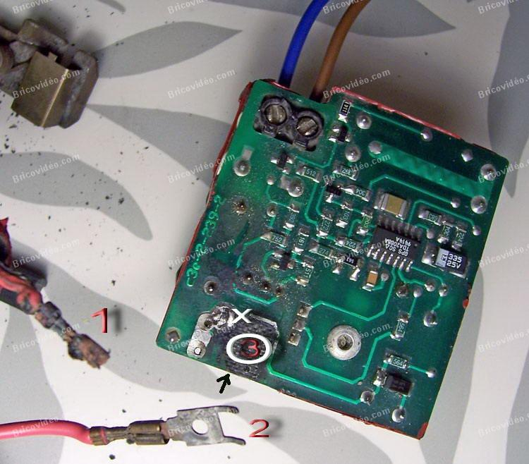 connexion circuit meuleuse
