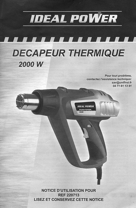 R paration bricolage outillage r sistance d capeur - Decapeur thermique brico depot ...