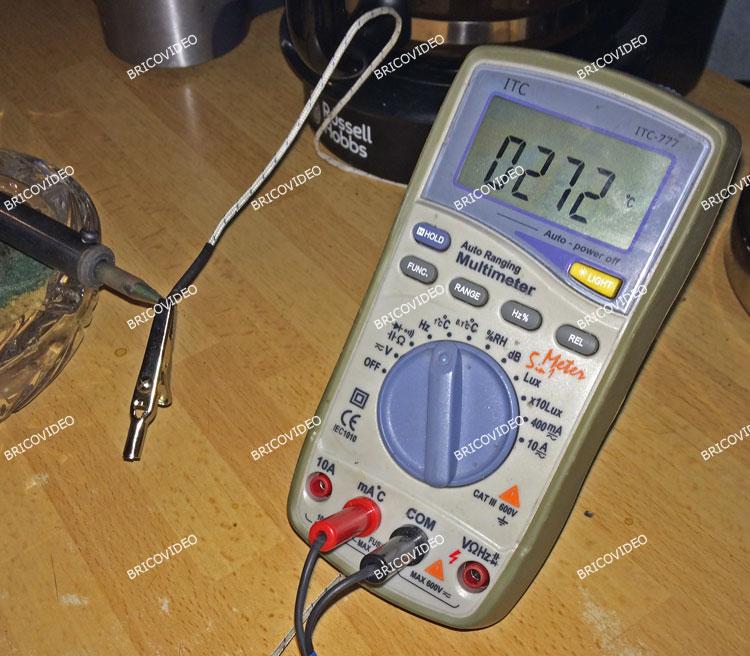 mesure température fer à souder