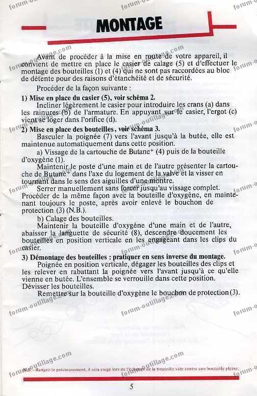 notice chalumeau coxynel 5