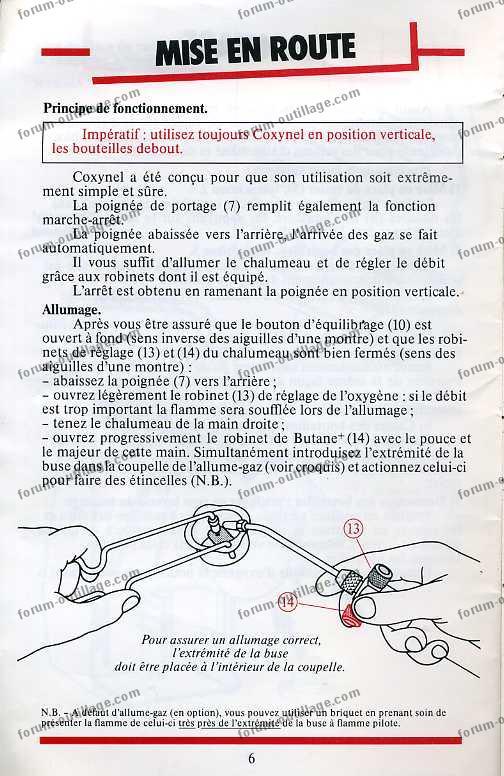 notice chalumeau coxynel 6