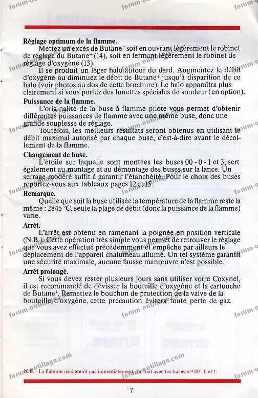 notice chalumeau coxynel 7