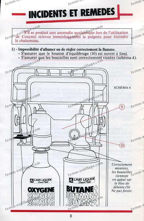 notice chalumeau coxynel 8