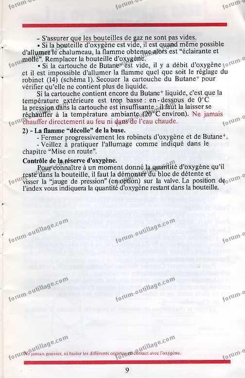 notice chalumeau coxynel 9