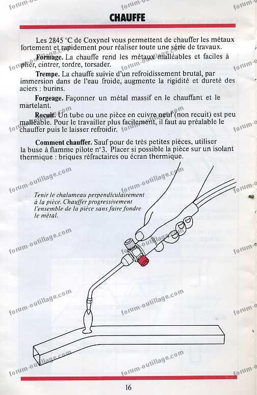 notice chalumeau coxynel 16