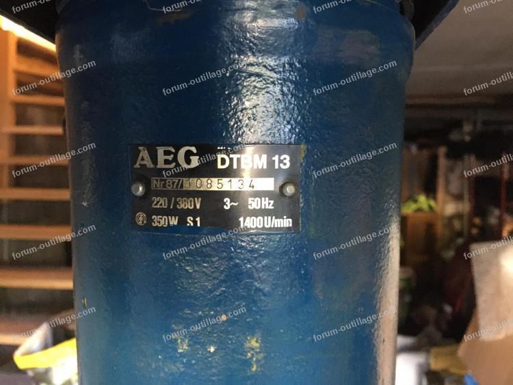 perceuse à colonne AEG DTBM 13