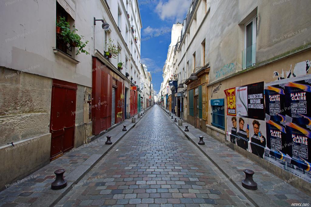 quartier de la Bastille à l'heure du confinement