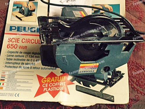 réparation scie circulaire Peugeot SC 42C