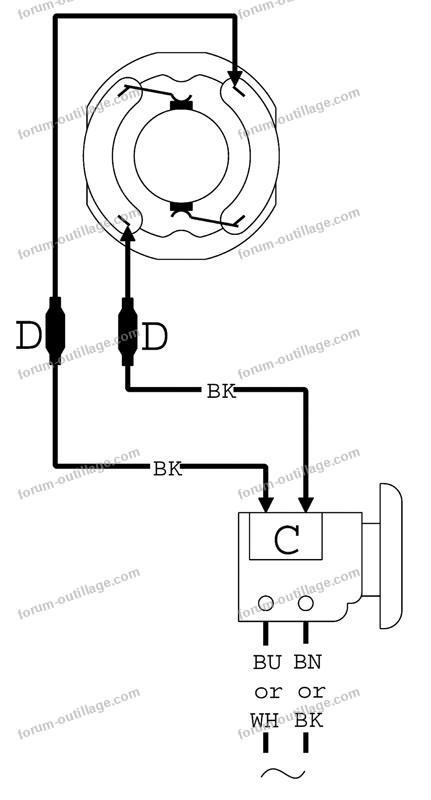 schéma électrique ponceuse Metabo SR180 Intec