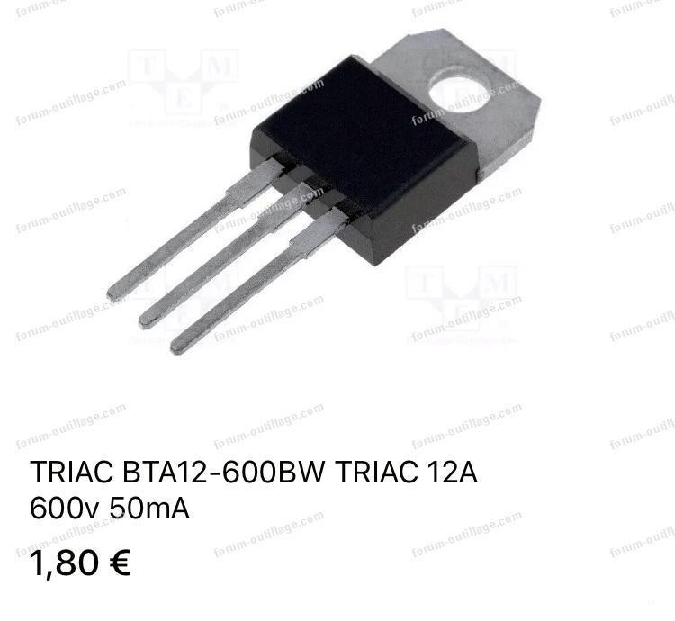 triac BTA 12