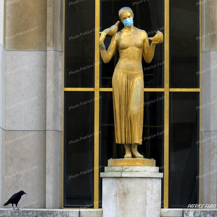 Paris Trocadéro en période de confinement