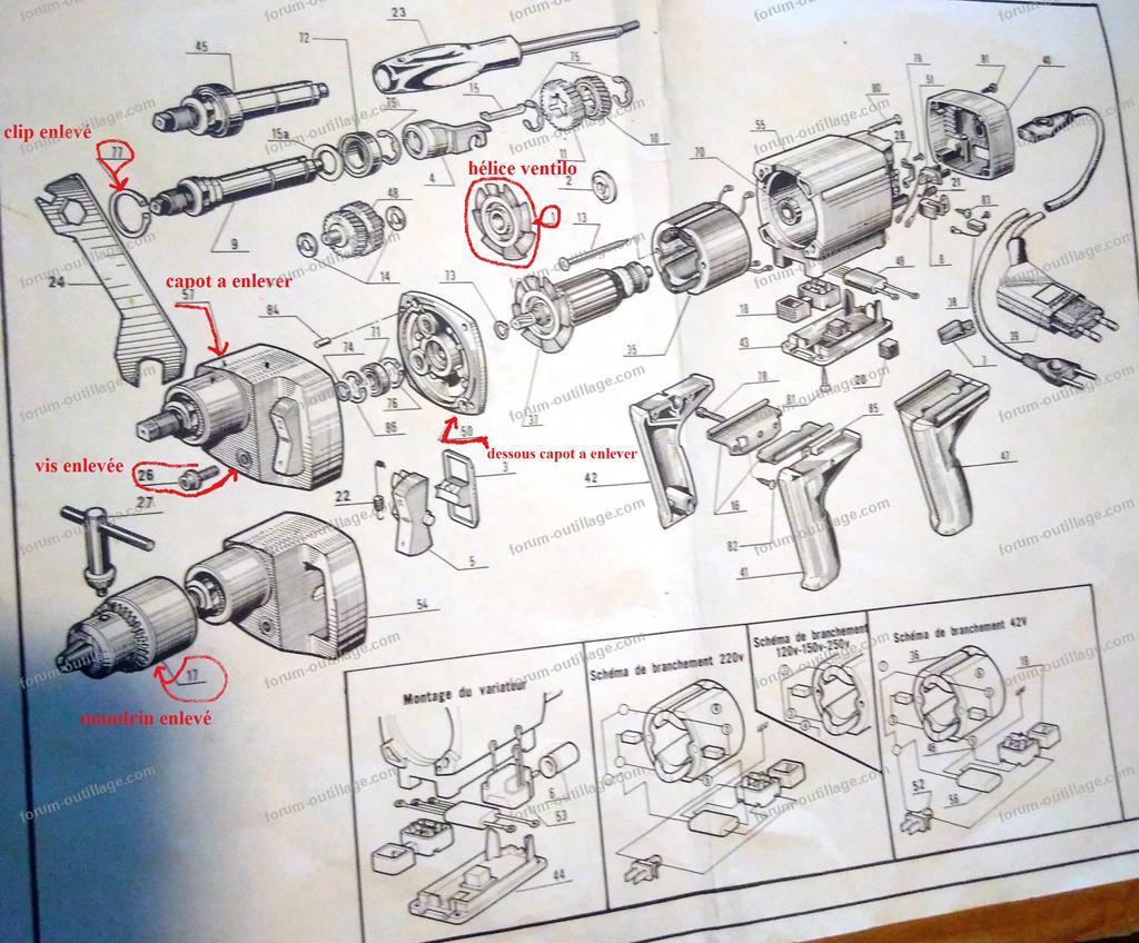 vue éclaté bloc moteur Peugeot MT 753