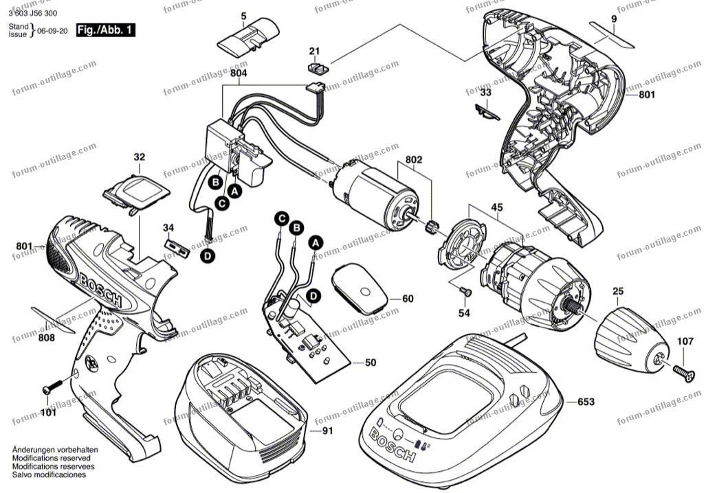 Forum outillage vue eclate visseuse bosch psr 18 li 2 - Vue eclatee moteur ...